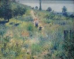 Chemin montant dans les hautes herbes - Pierre Auguste Renoir