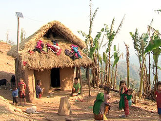 Chepang people - A typical Chepang home in Makwanpur District, Nepal