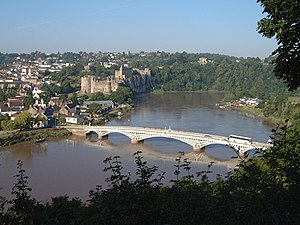 Chepstow - Image: Chepstow Castle and Bridge from Tutshill