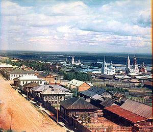 Cherdyn, Perm Krai - View of Cherdyn in 1912