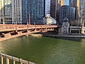 Chicago River dyed green for St. Patrick's Day.jpg