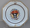 China Soup plate with arms of Fitler and repair VA C16-2008.jpg