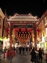 London's Chinatown, near Leicester Square.