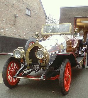 Chitty Chitty Bang Bang (car) - Tony Green's replica car GEN 22 on show at a Manchester Fire Service charity event