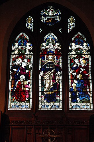 Christ Episcopal Church (Waltham, Massachusetts) - Image: Christ Church Waltham East Window