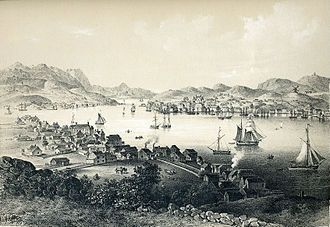 Kristiansund - A picture of Christianssund from the early 1840s.