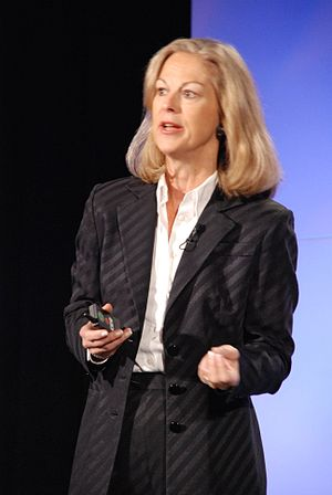 Christie Hefner, American publisher of Playboy...