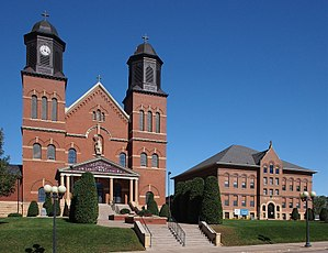 National Register of Historic Places listings in Scott County, Minnesota - Image: Church & School of St Wenceslaus
