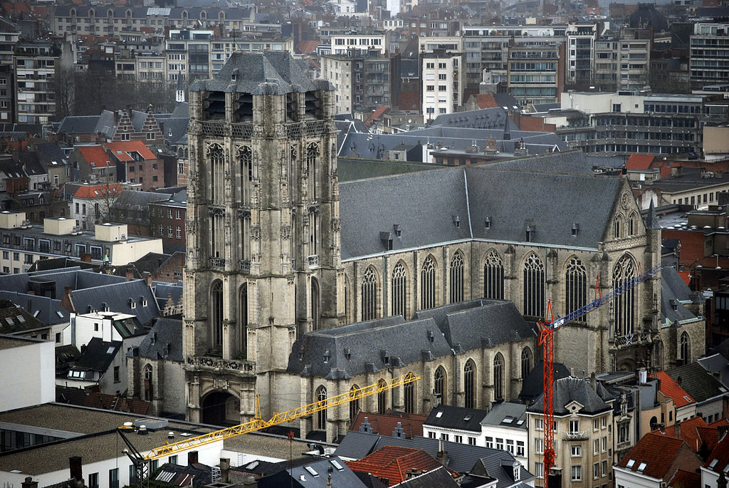 Church of St. James (Sint-Jacob), Antwerp, Belgium, aerial view.jpg