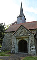 Church of St Andrew, Good Easter, Essex, England - tower and south porch.JPG