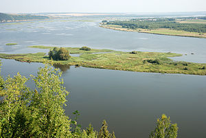 Ural economic region - Lower part of the Chusovaya River.