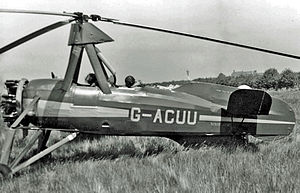 Cierva C.30 - Avro 671 (Cierva C.30A) taxiing for take-off at Auster's Rearsby Aerodrome in June 1951