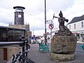 Cinderford Town Centre and the Miners' Memorial - geograph.org.uk - 132459.jpg