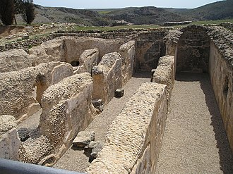 Valeria, Spain (Roman City) - Cisterns built under the forum to collect and store rainwater under Claudius