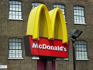 English: City Road McDonalds The famous golden...