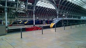 British Rail Class 800 - Class 800s alongside Class 43 HSTs at London Paddington