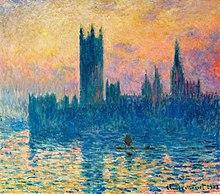 Obra Del Pintor Francs Claude Monet Donde Se Retrata Parlamento