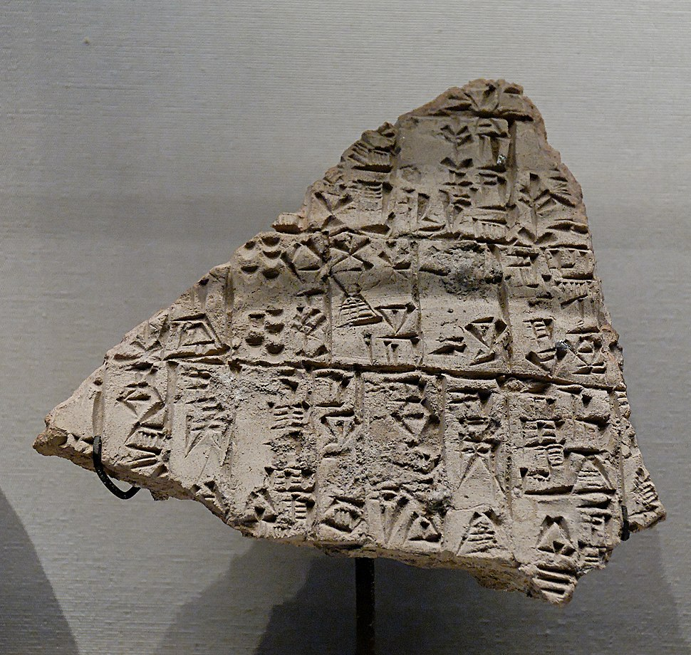Clay cone Lagash Umma Louvre AO12779