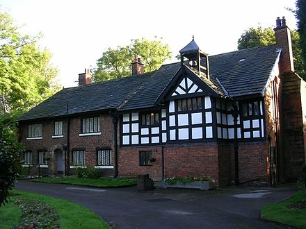 Clayton Hall, in Clayton is also a Grade II* listed building Clayton Hall in 2005.jpg
