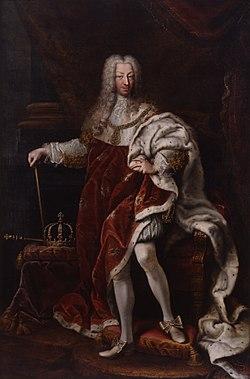 Clementi - Charles Emmanuel III in coronation robes, Palazzo Madama.jpg
