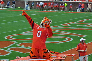 The Tiger (mascot) - The Tiger at a 2009 football game