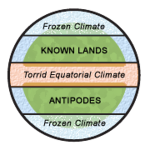 Antichthones - Image: Climatic zones and antipodes