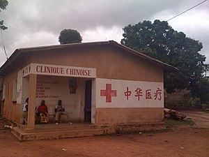 China–Ivory Coast relations - A Chinese Clinic offering traditional Chinese medicine in Ferkessédougou