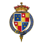 Coat of Arms of Sir Robert de Vere, 9th Earl of Oxford, KG.png