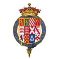 Coat of arms of Charles Talbot, 12th Earl of Shrewsbury, KG.png