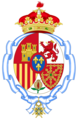 Coat of arms of Infanta Pilar of Spain, Duchess of Badajoz (Until 1991).png