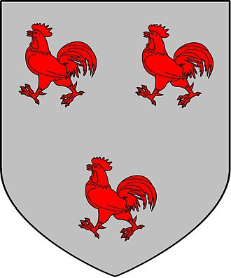 Aston Cockayne - Cockayne coat of arms