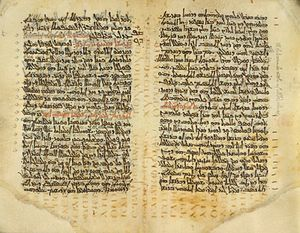 Palimpsest - Codex Nitriensis, with Syriac text (upper text)