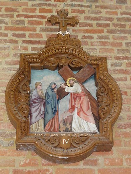 Coingt (Aisne) Église, chemin de croix, station 04