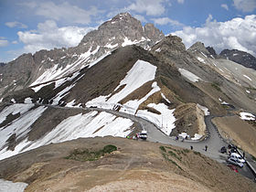 Le Grand Galibier vu du col