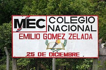 Colegio Emilio G%C3%B3mez Cartel