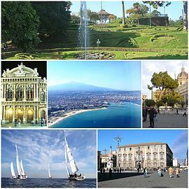 A collage of Catania.