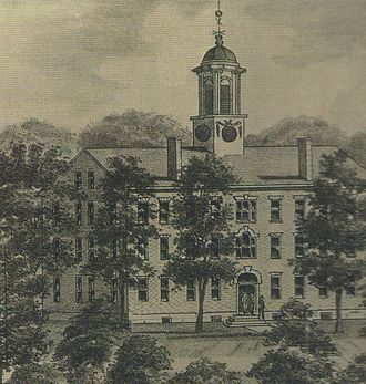 Athens, Ohio - The College Edifice was the first building of higher education in the Northwest Territory