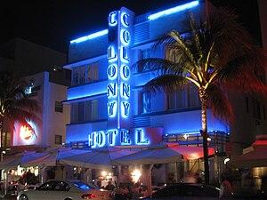 Colony Hotel - South Beach, Miami, Florida, USA.