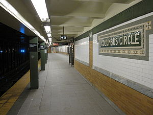 59th Street–Columbus Circle (New York City Subway) - Uptown platform