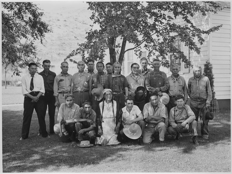 Colville Business Council and some hereditary chiefs and elders in 1941