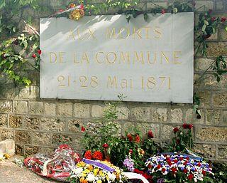 Communards Wall monument in Paris