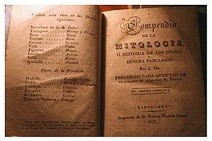 English: Compendio de la Mitología ó Historia ...
