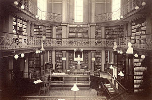 Concord Free Public Library - Interior of the library, 1873