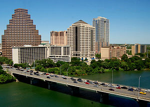 Ann W. Richards Congress Avenue Bridge - Image: Congress Ave Bridge Apr 2010