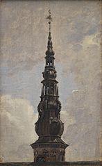 Trompetertårnets spir. Kronborg. Studie