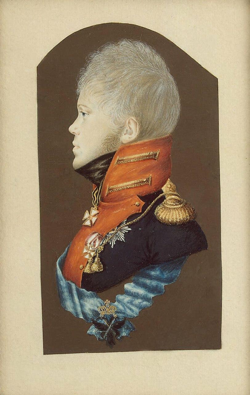 Constantine Pavlovich by P.E.Rockstuhl (c.1809, Hermitage)