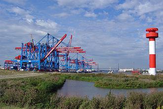 Altenwerder - Container Terminal Altenwerder in 2004