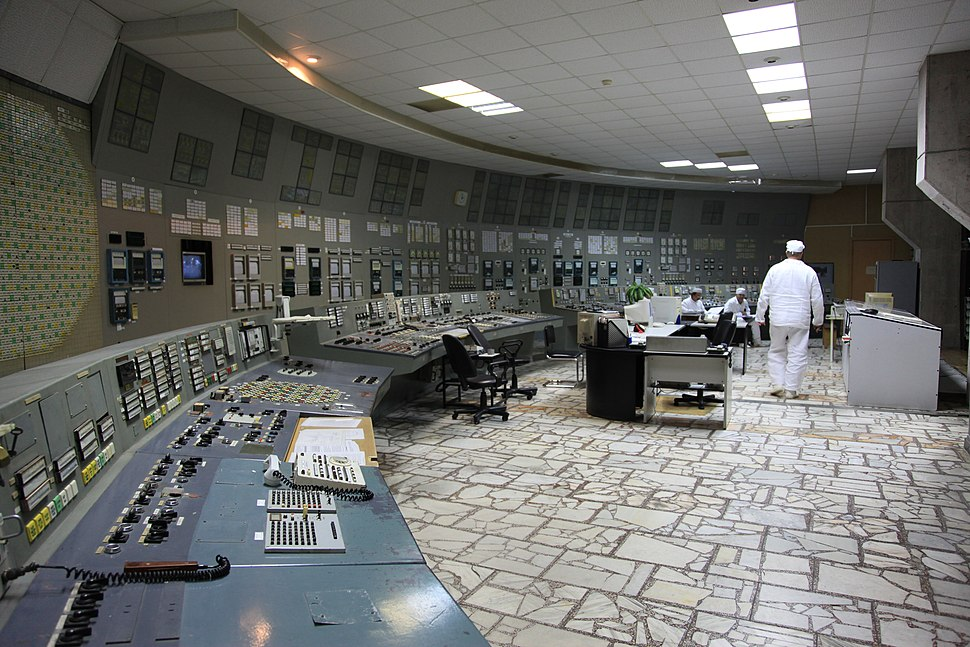 Control Room of Chernobyl Nuclear Power Plant Unit 3
