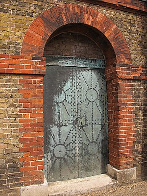 Tilbury Fort - Early 18th-century copper doors on the magazines