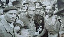 Fausto Coppi e Gino Bartali nel 1940 ca..